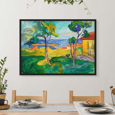 Bild mit Rahmen - Edvard Munch - Der Garten - Querformat 3:4