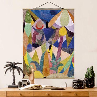 Stoffbild mit Posterleisten - Paul Klee - Mildtropische Landschaft - Hochformat 4:3