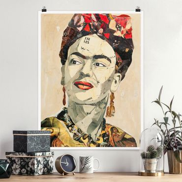 Poster - Frida Kahlo - Collage No.2 - Hochformat 3:4