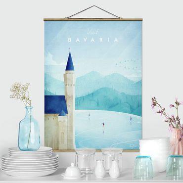 Stoffbild mit Posterleisten - Reiseposter - Bavaria - Hochformat 4:3