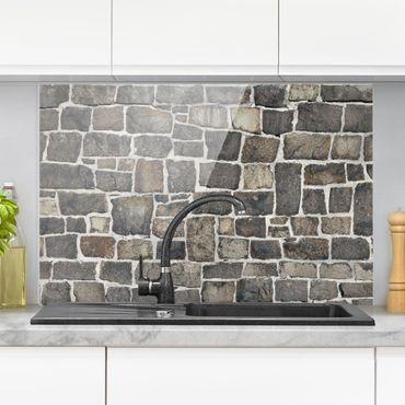 Spritzschutz Glas - Natursteinwand - Querformat - 3:2