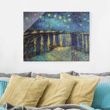 Glasbild - Vincent van Gogh - Sternennacht über der Rhône - Querformat 3:4