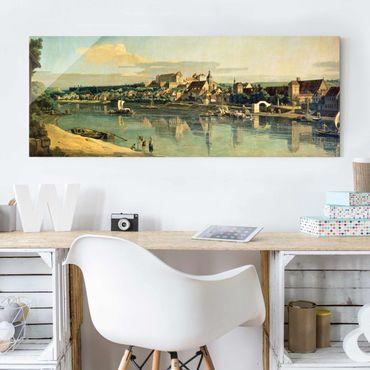 Glasbild - Bernardo Bellotto - Blick auf Pirna - Panorama