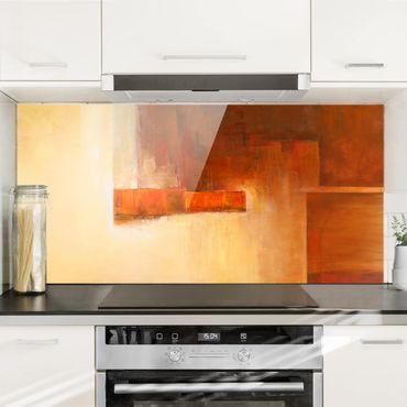 Spritzschutz Glas - Balance Orange Braun - Querformat - 2:1
