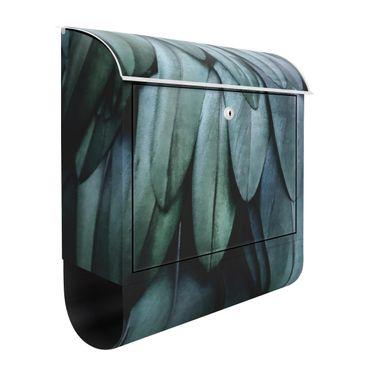 Briefkasten - Federn in Aquamarin