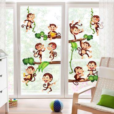 Fensterfolie - Fenstersticker - Affen des Dschungels