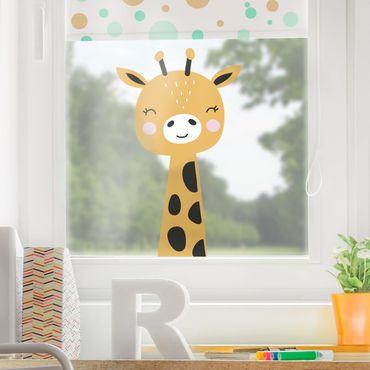 Fensterfolie Fenstersticker - Baby Giraffe