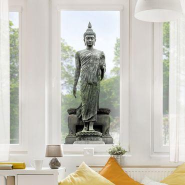 Fensterfolie - Fenstersticker - Buddha Statue