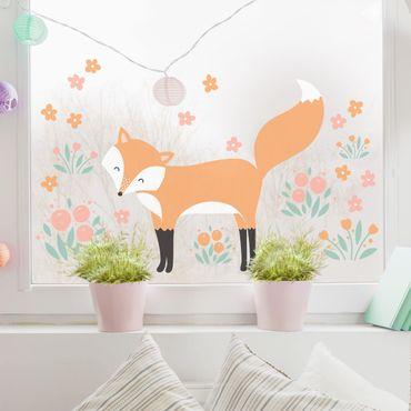 Fensterfolie Fenstersticker - Forest Friends mit Fuchs - Fensterbild