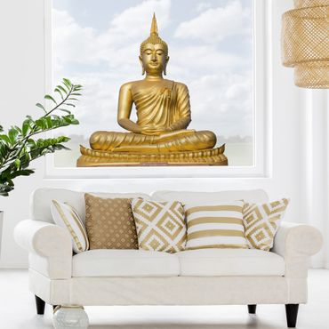 Fensterfolie - Fenstersticker - Goldener Buddha