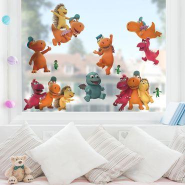 Fensterfolie Fenstersticker - Kleiner Drache Kokosnuss - Freunde