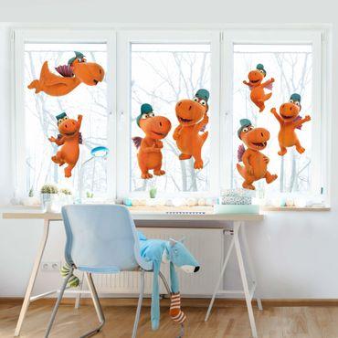 Fensterfolie Fenstersticker - Kleiner Drache Kokosnuss - Drachen