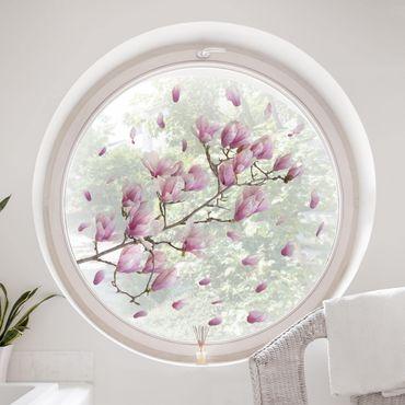 Fensterfolie Fenstersticker - Magnolie Zweig Set