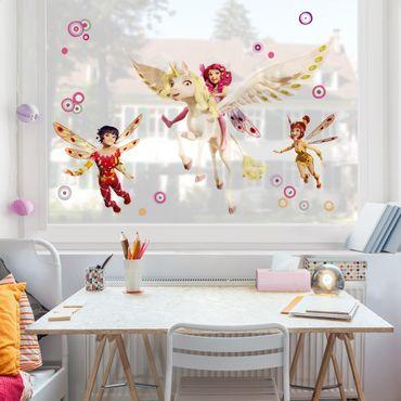 Fensterfolie - Fenstersticker - Mia and Me - Mia Yuko und Mo