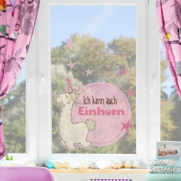 Fensterfolie - Fenstersticker NICI Lama als Einhorn