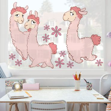 Fensterfolie - Fenstersticker - NICI Rosa Lama Set