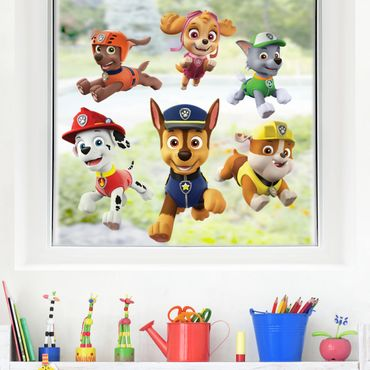 Fensterfolie Fenstersticker - PAW Patrol - Freunde in Action