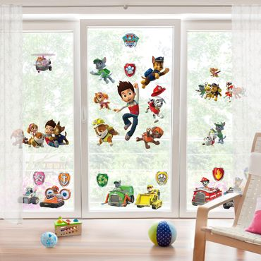 Fensterfolie Fenstersticker - PAW Patrol - Mega-Set