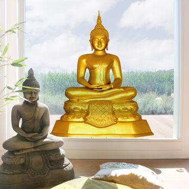 Fensterfolie - Fenstersticker - Zen Buddha Gold