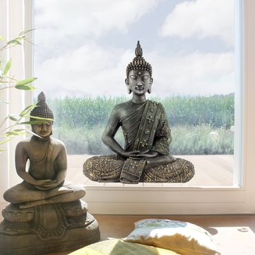 Fensterfolie - Fenstersticker - Zen Buddha Stein