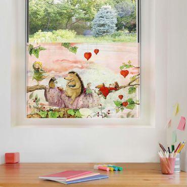 Fensterfolie Sichtschutz - Erdbeerinchen Erdbeerfee - Auf dem Ast - Fensterbild