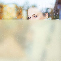 Klebefolie Fenster - Sichtschutzfolie in Gelb - Fensterfolie Glasdekor