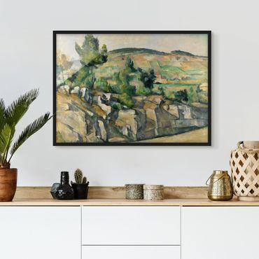 Bild mit Rahmen - Paul Cézanne - Hügelige Landschaft - Querformat 3:4