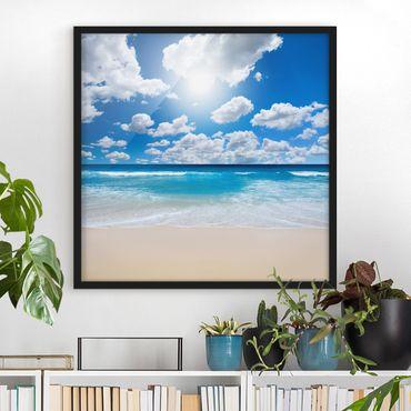 Bild mit Rahmen - Touch of Paradise - Quadrat 1:1