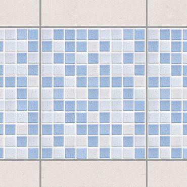 Fliesen Bordüre - Mosaikfliesen Hellblau 20x25 - Fliesensticker Set