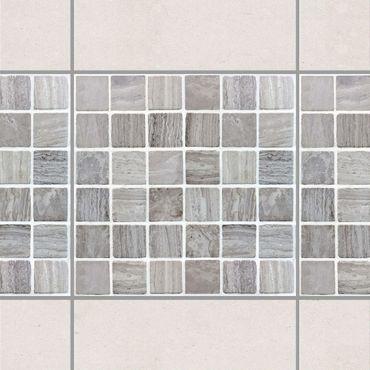 Fliesen Bordüre - Mosaikfliesen Marmoroptik 15x15cm - Fliesensticker Set