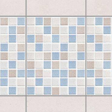 Fliesen Bordüre - Mosaikfliesen Meersand 15x20 - Fliesensticker Set
