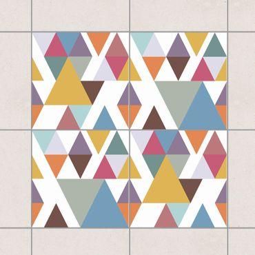 Fliesenaufkleber - Bunte Dreiecke Set
