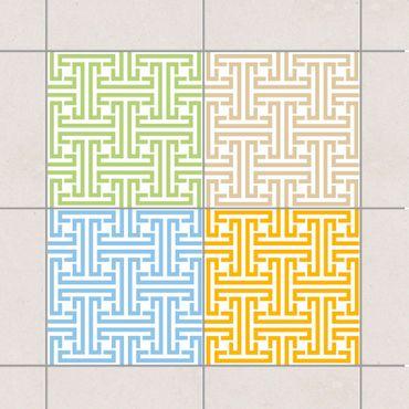 Fliesenaufkleber - Dekoratives Labyrinth Farbset