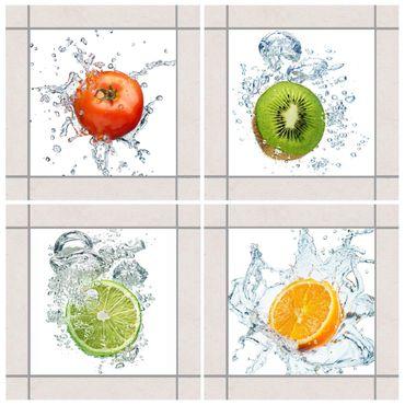 Fliesenaufkleber - Frische Früchte Set
