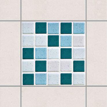 Fliesenaufkleber - Mosaikfliesen Türkis Blau