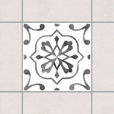 Fliesenaufkleber - Muster Grau Weiß Serie No.4