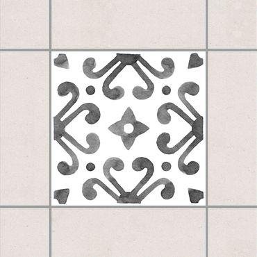 Fliesenaufkleber - Muster Grau Weiß Serie No.7