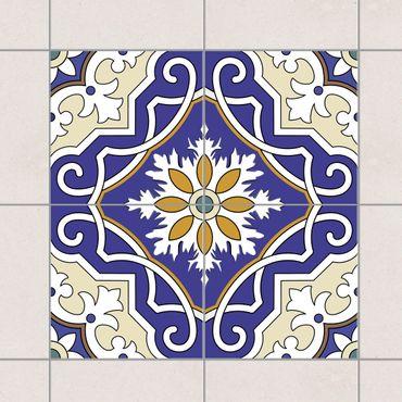 Fliesenaufkleber - Ornament aus 4 spanischen Fliesen