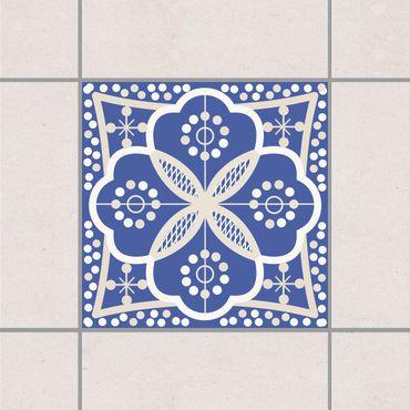 Fliesenaufkleber - Portugiesische Wandfliese Blau Weiss