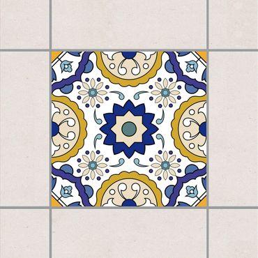 Fliesenaufkleber - Portugiesischer Fliesenspiegel aus 4 Azulejo Fliesen