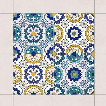 Fliesenaufkleber - 4 Portugiesische Azulejo Fliesen