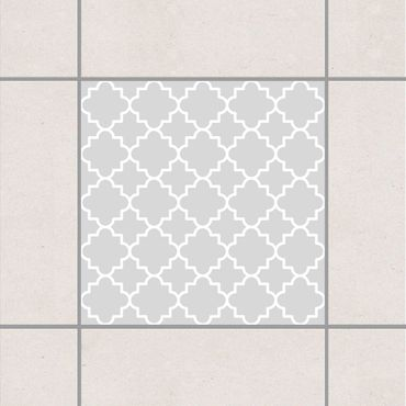 Fliesenaufkleber - Traditional Quatrefoil Light Grey