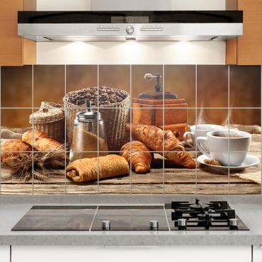 Fliesenbild - Frühstückstisch