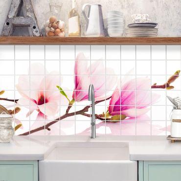 Fliesenbild - Zarter Magnolienzweig