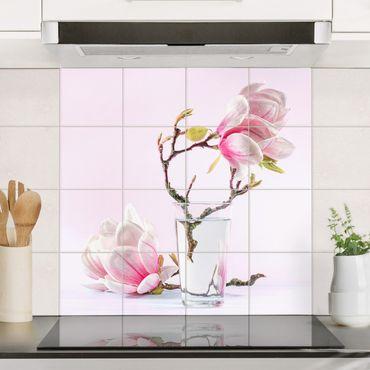Fliesenbild - Magnolie im Glas