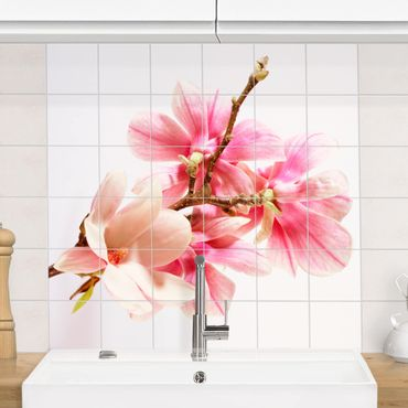 Fliesenbild - Magnolienblüten
