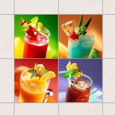 Fliesenaufkleber - Bunte Cocktails