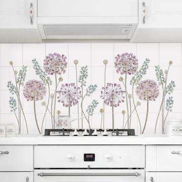 Fliesenbild - Allium Illustration