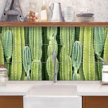 Fliesenbild - Kaktus Wand