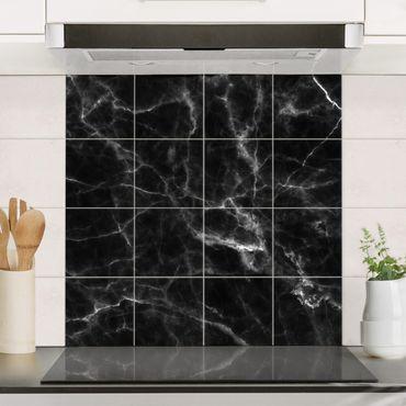 Fliesenbild - Nero Carrara
